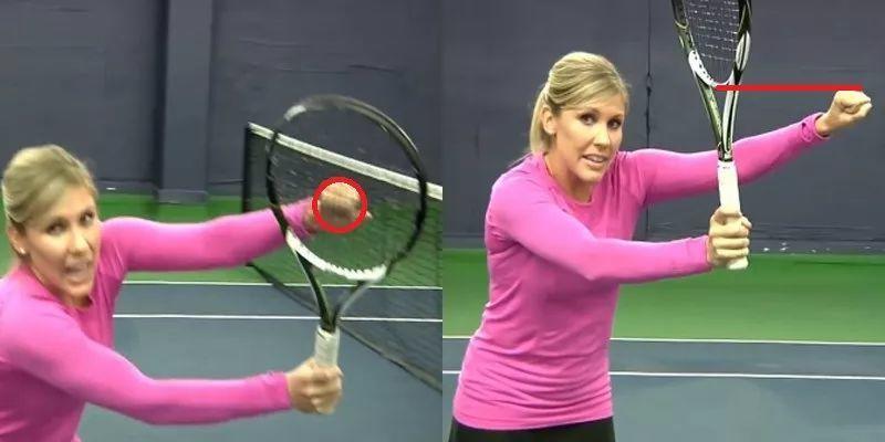 网球截击新技巧,甜点高于球让你瞬间摆脱敲框!