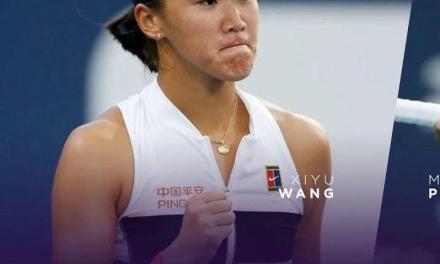 中国17岁小花王曦雨,迈阿密首轮横扫奥运冠军!