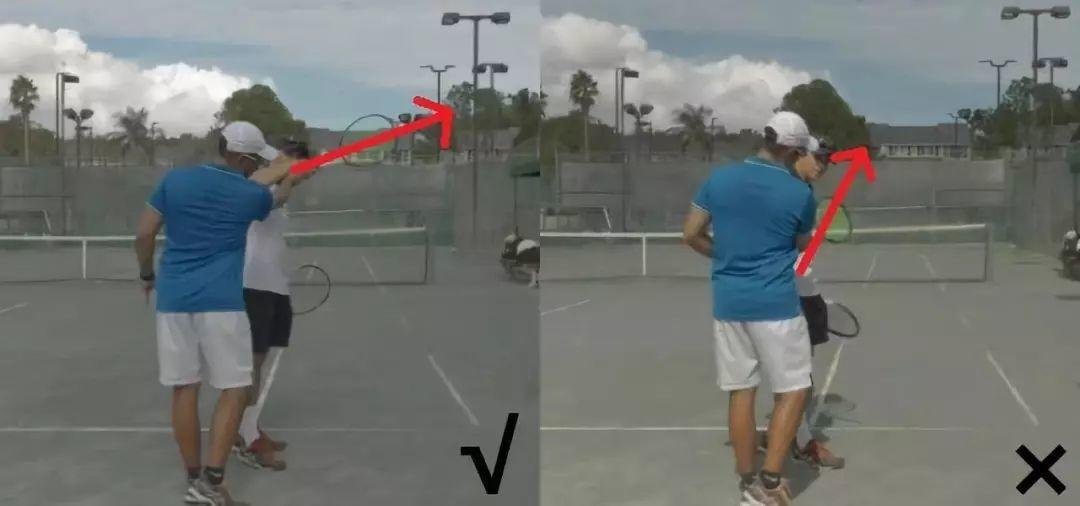 延长击球区+击球点靠后=网球直线制胜分!