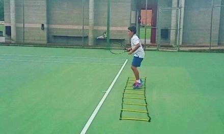 网球,绳梯结合上网训练