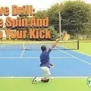 跪式发球-提高你的上旋发球
