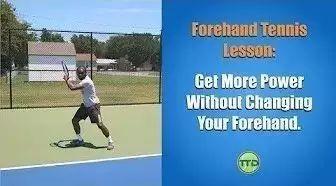 简单一招,增加正手击球的力量!