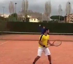 网球高难度击球训练