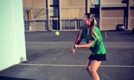 网球对墙截击训练视频
