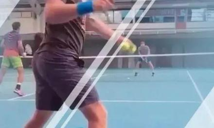 【视频】双打抢网训练