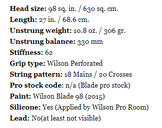 拉奥尼奇、西西帕斯的职业选手Wilson Blade球拍,居然没比市售款更好打?