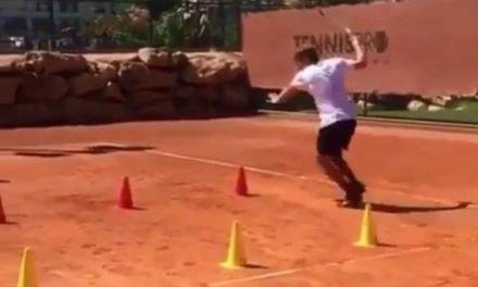 戈芬正手脚步训练,飞毛腿就是这样练成的!