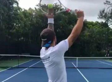 网球Kick Serve侧上旋发球五步练习法,简单易行!