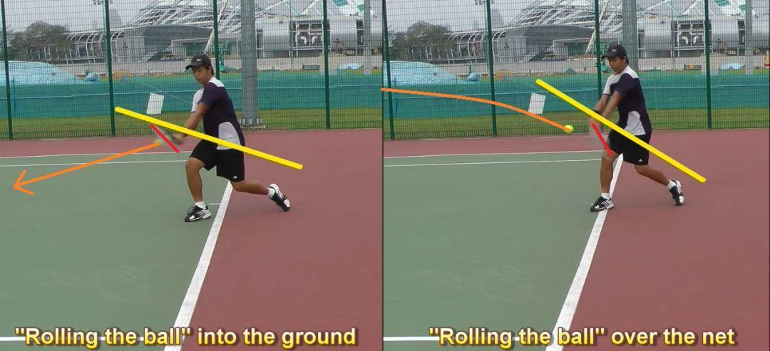 如何避免击球下网?别再压着球,把球往地上摁了!