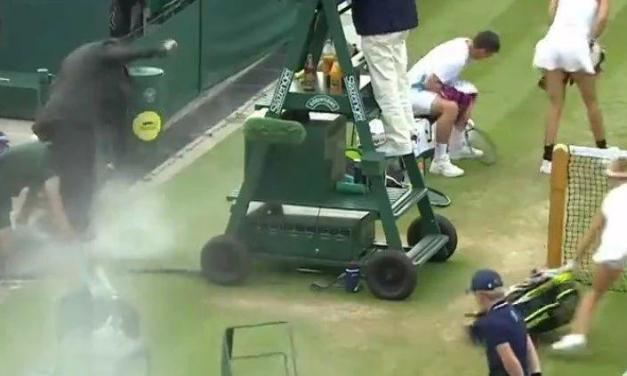 网球场上的搞笑时刻,真是什么都可能发生!