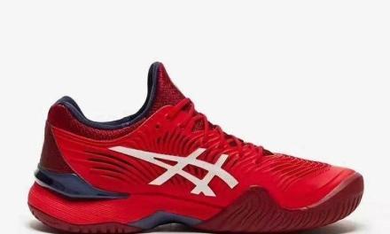 德约贺岁款中国红网球鞋 ASICS COURT FF NOVAK
