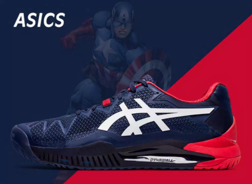 "Asics 2020年新一代网球鞋,孟""飞""尔斯参与设计,美国队长配色"