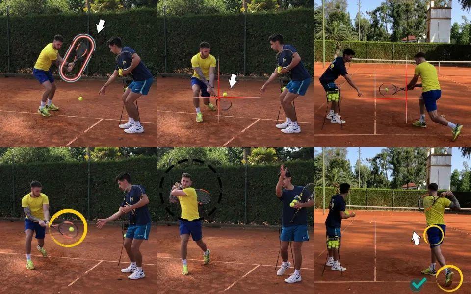 一张图学网球!双反技术要点示范教学看这里