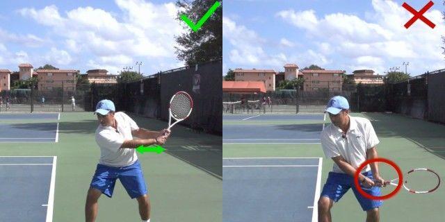 网球双反击球容易被忽略的3个手上动作,手腕屈曲才是掉拍头的关键
