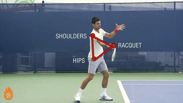 正手发力教程Part2:三角击球、肩胯分离是关键